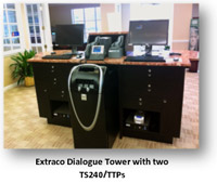 Teller capture station at Extraco Bank