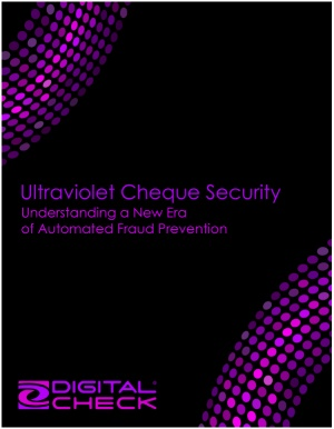 Ultraviolet Cheque Security: Free White Paper Download