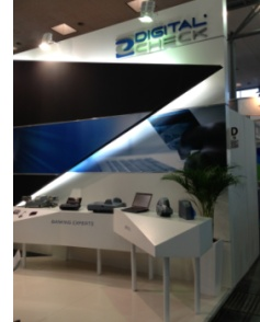Digital Check and ST Imaging booth at CeBIT 2013 in Hannover, Germany