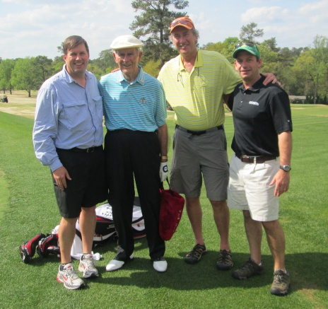 1955 Masters champion Jack Fleck with Digital Check CEO Tom Anderson