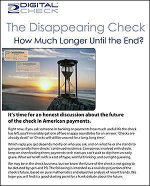 Disappearing check - white paper cover