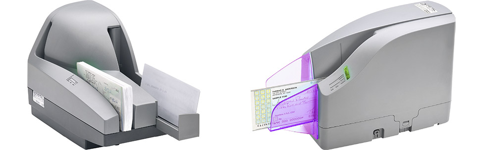 Ultraviolet Check Scanners: TellerScan UV and CheXpress UV