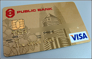 EMV chip and PIN credit card