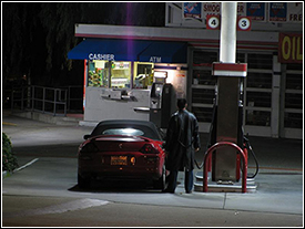Paying at the gas station