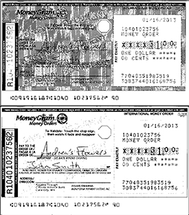 Money Order image quality problem