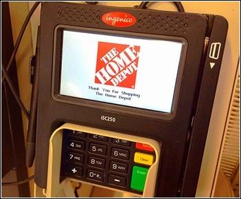 Home Depot credit card reader