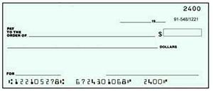 Example blank check