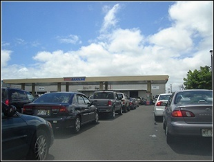 Waiting in line for gas at Costco