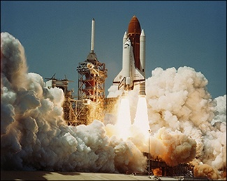 Challenger Space Shuttle first launch