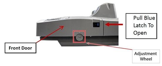 Discriminator tension wheel