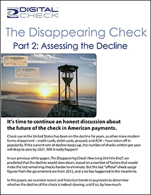 The Disappearing Check — Part 2: Assessing the Decline and Part 3: Predicting the Endgame