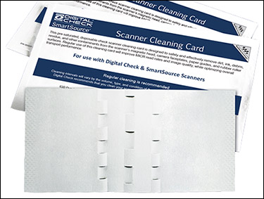 Universal Cleaning Card For All Digital Check, SmartSource Scanners