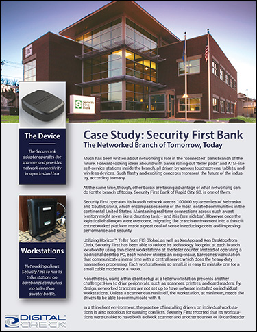 Security First Bank Network Scanning
