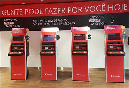 Bank lobby kiosks