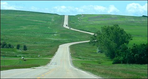 Rural road in North Dakota