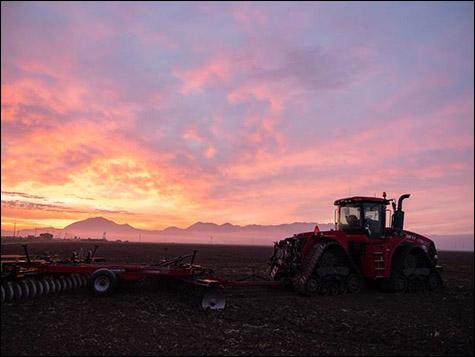 Tractor in field - Nutrien