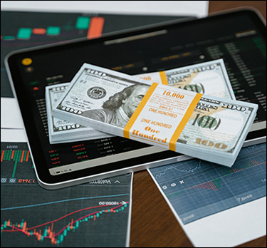 Cash with tablets