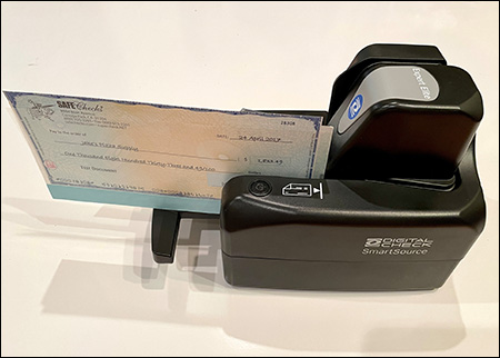 Check carrier with SmartSource Elite scanner