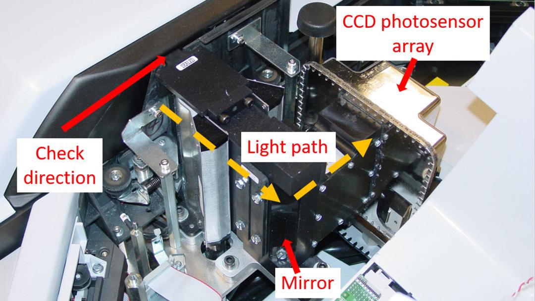 Scanner light path diagram