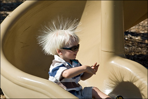 static electricity from slide